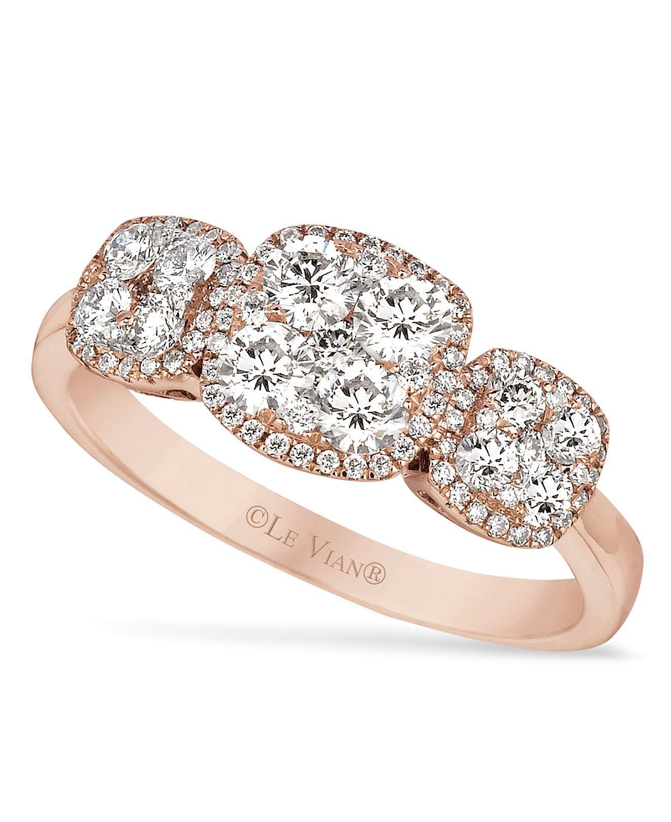Le Vian Strawberry Gold and Vanilla Diamonds Ring 5 8 ct t w