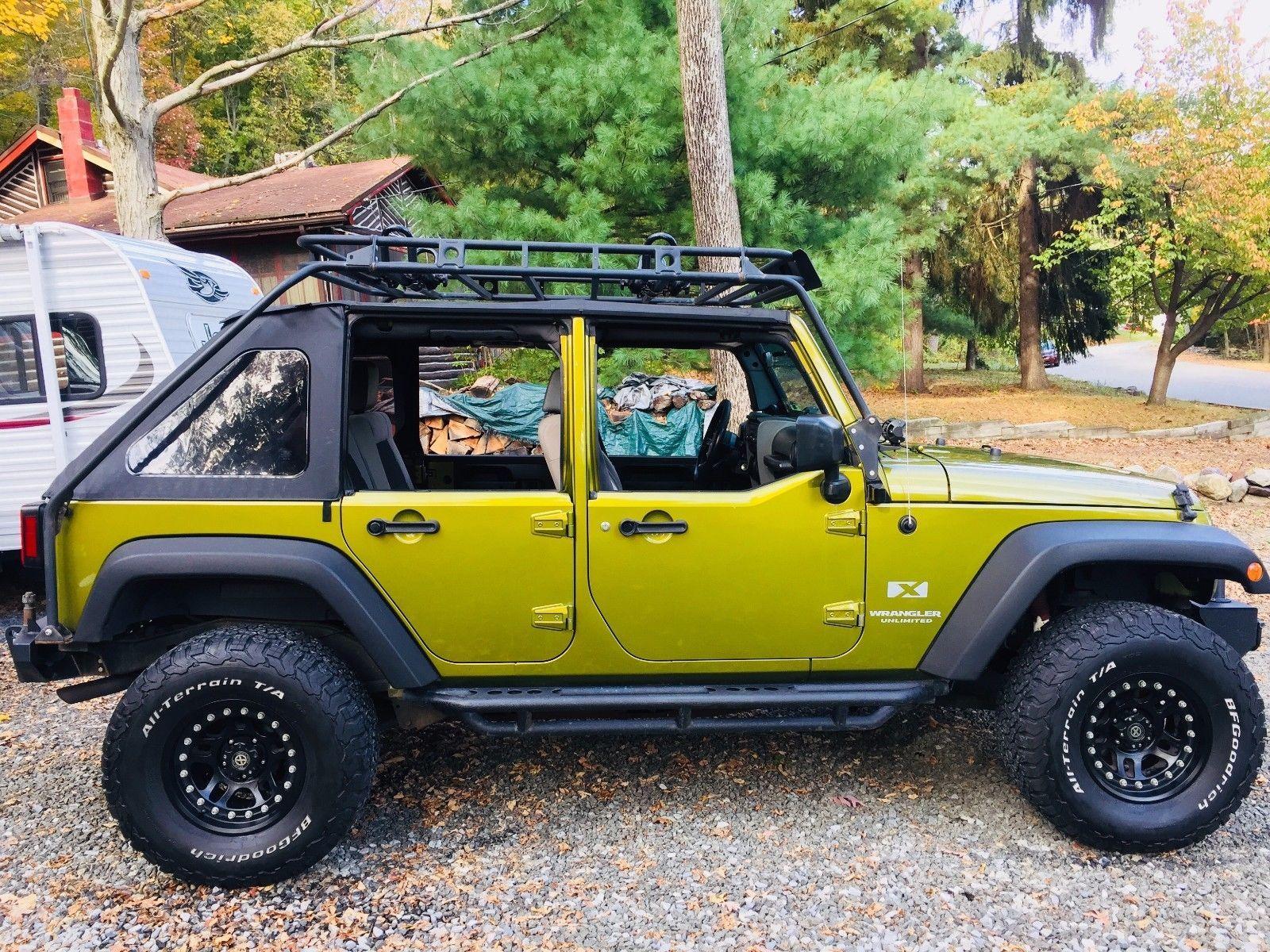 2008 Jeep Wrangler 4 Door Jku Soft Top With Steel Half Doors 4 Door Jeep Wrangler 2008 Jeep Wrangler Jeep Wrangler