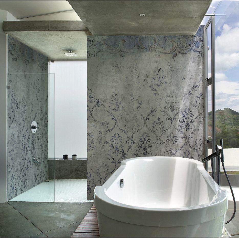 Wohndesign : Billig Neues Interieur Bad Mit Steinzeugfliesen Die Fugenlose  Dusche Trendig Und Chic Farbefreudeleben Neues
