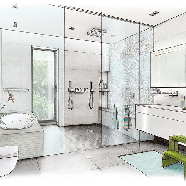 Déco Maison Meuliere: Family Bathroom #architecture #architektur #archisketcher