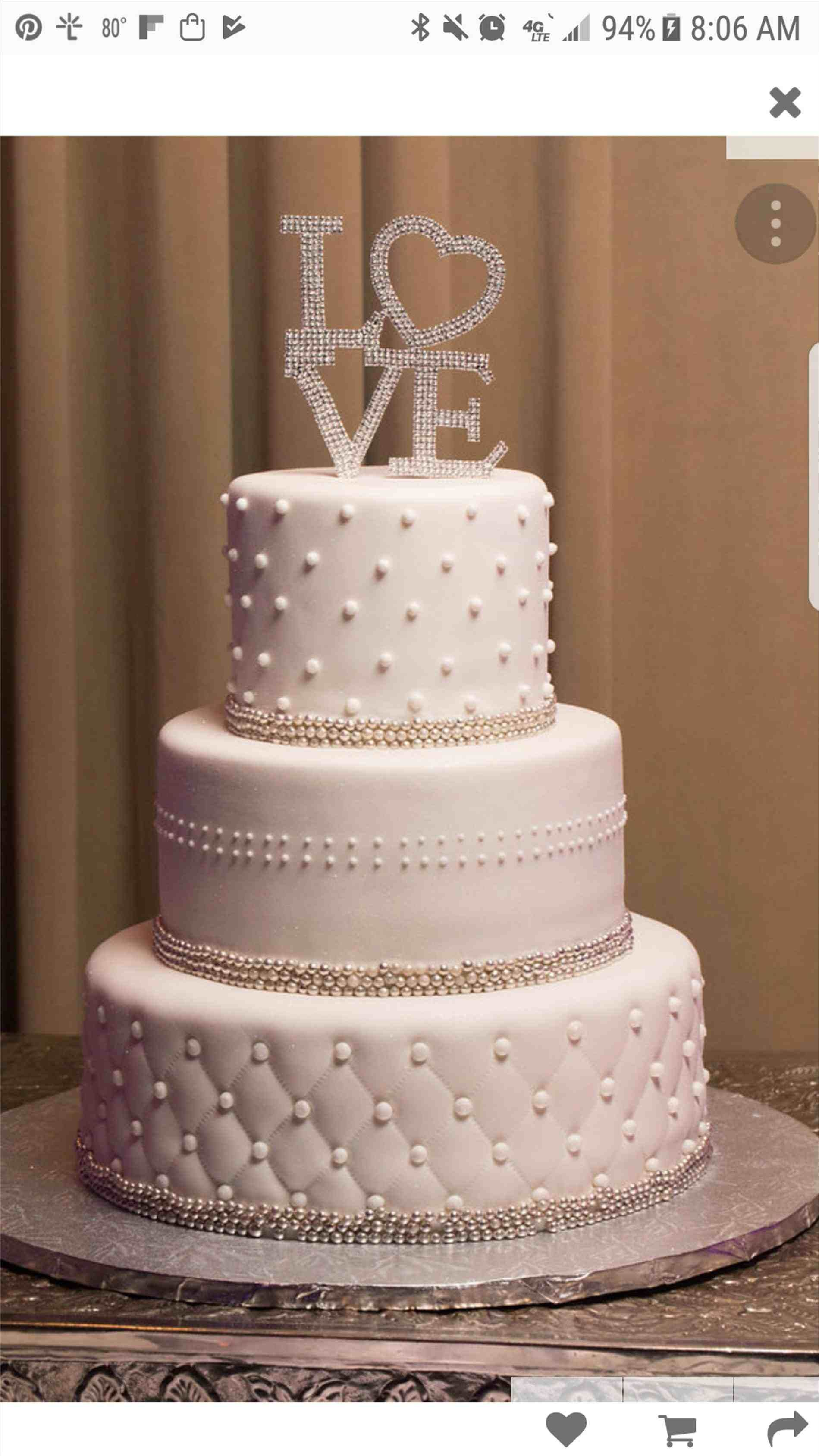 Simple three tier wedding cake weddings pinterest wedding