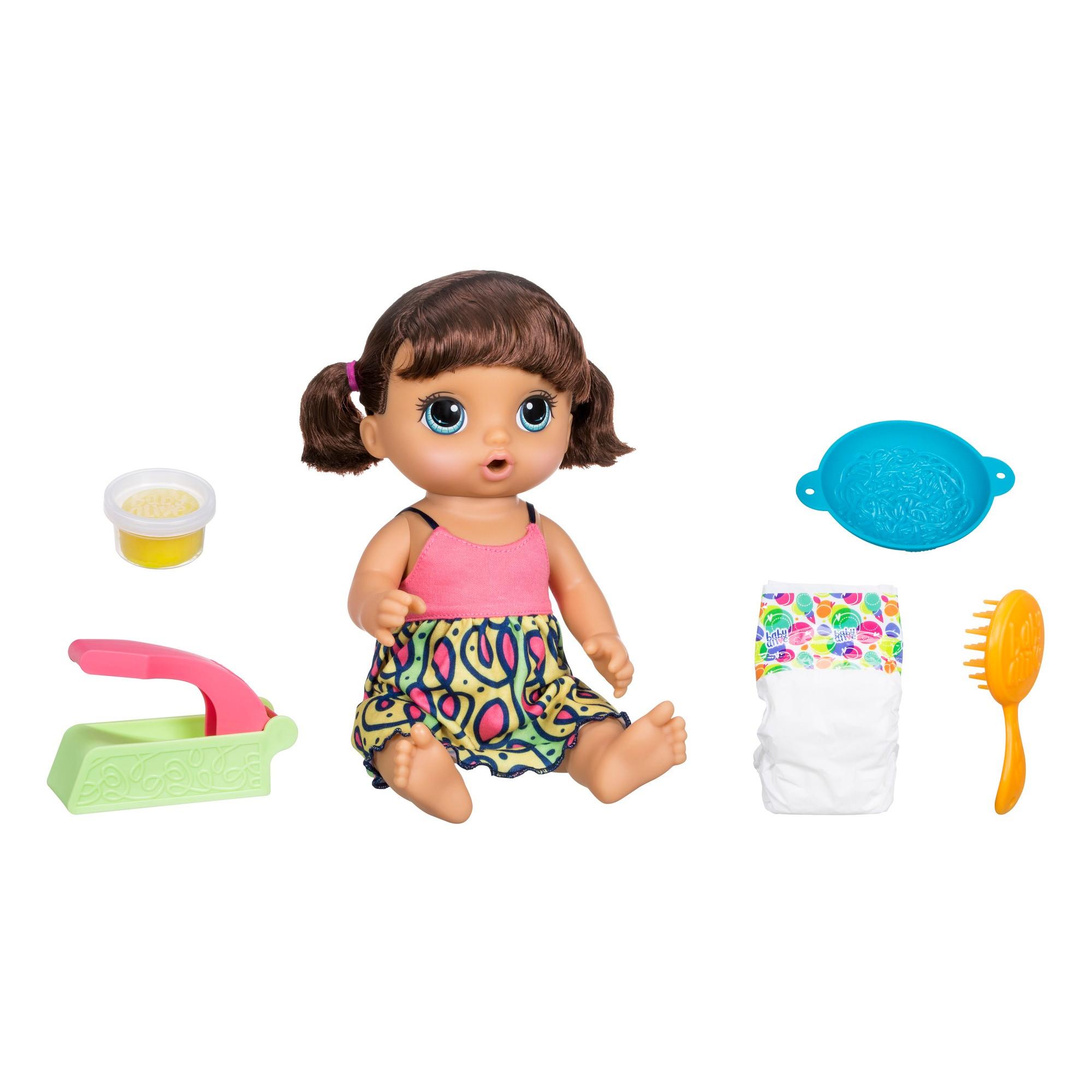 Baby Alive Super Snacks Snackin Noodles Brunette Baby Alive Dolls Baby Doll Accessories Baby Alive