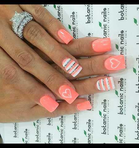 fun nail designs 2017 summer  heart nail designs heart