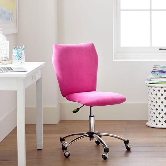 Pink Velvet Armless Chair