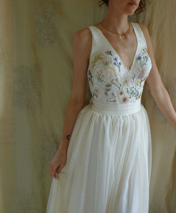 Meadow Wedding Gown Whimsical Country Woodland Fairy Boho