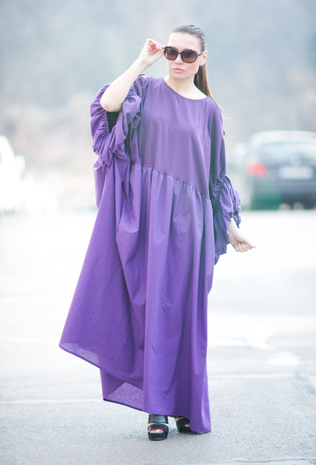 43e972c8c5c5 Purple Long Loose Dress