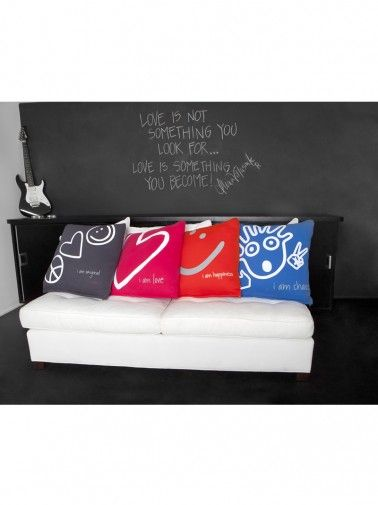 Peace Love World Decorative Pillows Wall