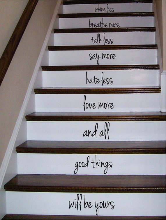 Whine less breathe more stairs decor decal sticker wall vinyl art boop decals vinyl decal vinyl sticker decals stickers wall decal vinyl