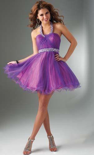 Vestidos de color lila para fiesta