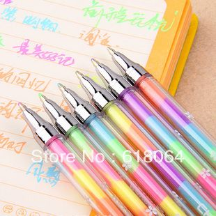 free shipping South Korea stationery 6 color highlighter pen
