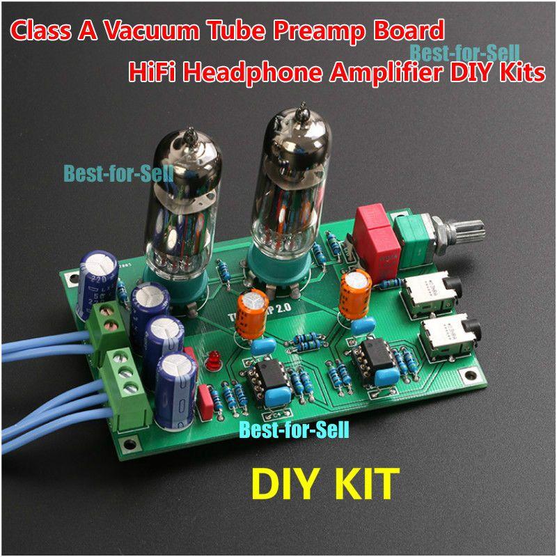 12.82 Class A 6J5 Vacuum Tube Preamp Preamplifier Hifi