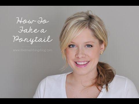 Fix a Hair Emergency : Fake a Ponytail