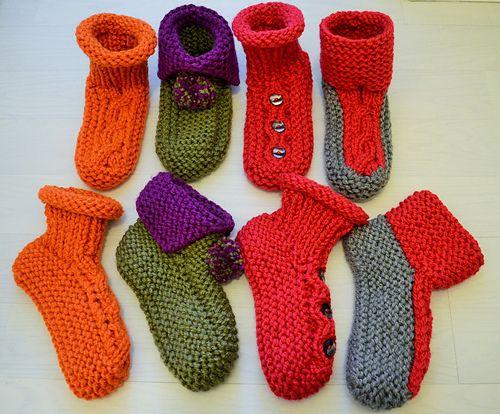 Chunky Slipper Socks pattern by Lorraine Leatham   Chunky ...
