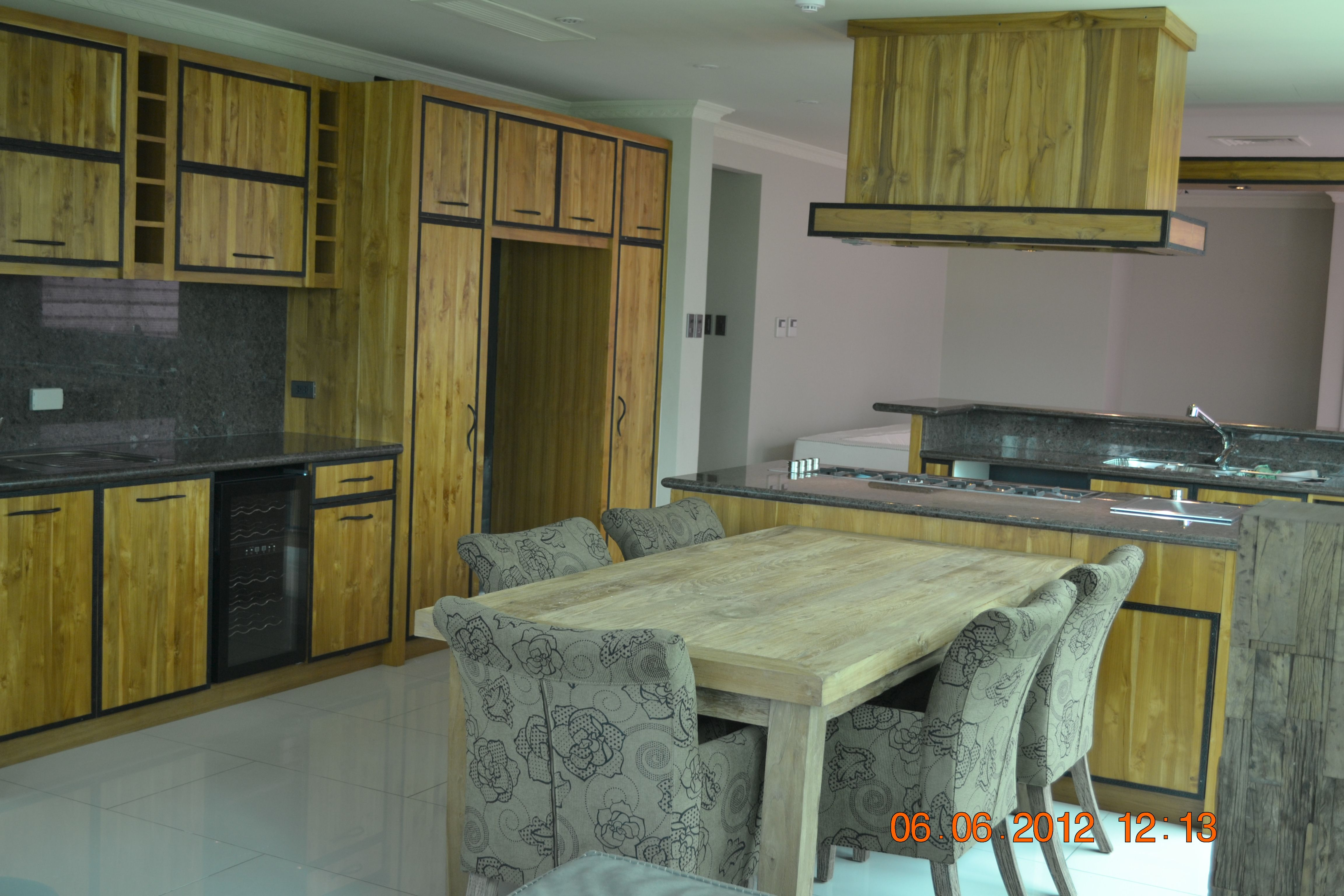 Are Granite Countertops Out Solid Teak Wood Faced Kitchen Customized Metal Handles