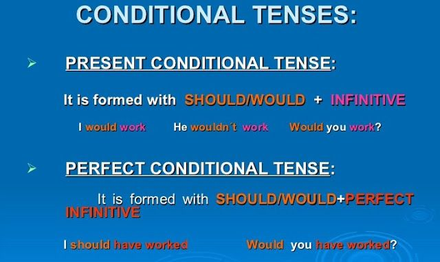 conditional tense would