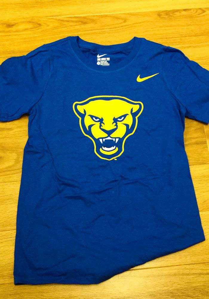 2f605767 Nike Pitt Panthers Youth Blue Panther Head Short Sleeve T-Shirt, Blue, 100%  COTTON, Size XL