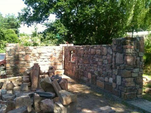 Gartenmauer Garten Mauer   Zäune Pinterest Gartenanlage - garten sichtschutz mauer