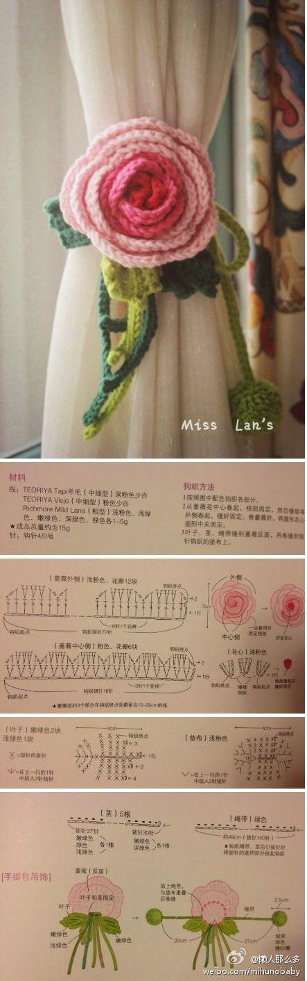 a brooch? a curtain cord? a hair pin decoration? beautiful crochet ...