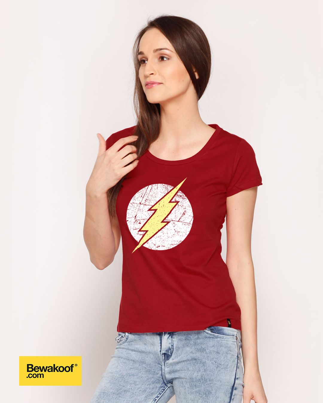 Bewakoof - Flash Logo T-Shirt (DCL) INR 425 at Bewakoof.com ...