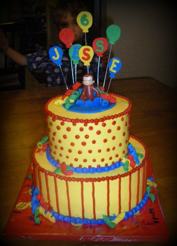 Curious George Airplane Cake Topper