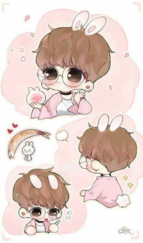 Jungkook Bunny Bts Jungkook Bts Fanart Bts Chibi