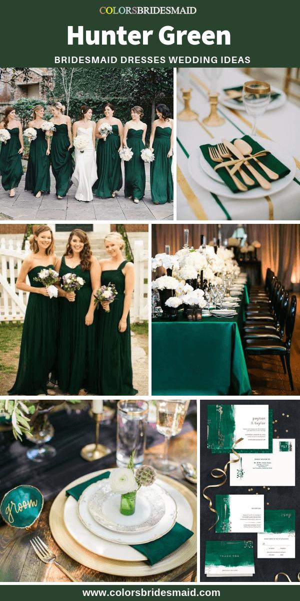 Bridesmaid Dresses Hunter Green Color In 2019