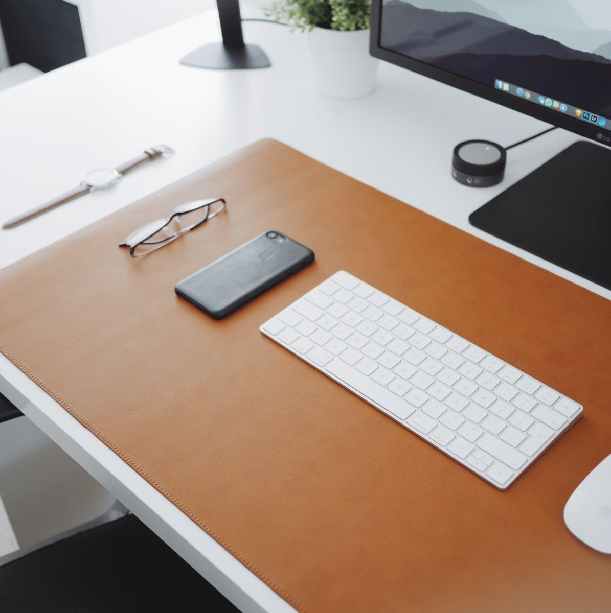 These Clean Minimal Desk Mats Will Perfectly Complement Any Workspace Leather Desk Desk Mat Minimal Desk