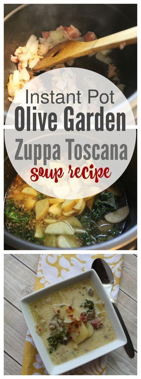 Instant Pot Olive Garden Zuppa Toscana Soup #instantpotrecipes #zuppatoscanasoup