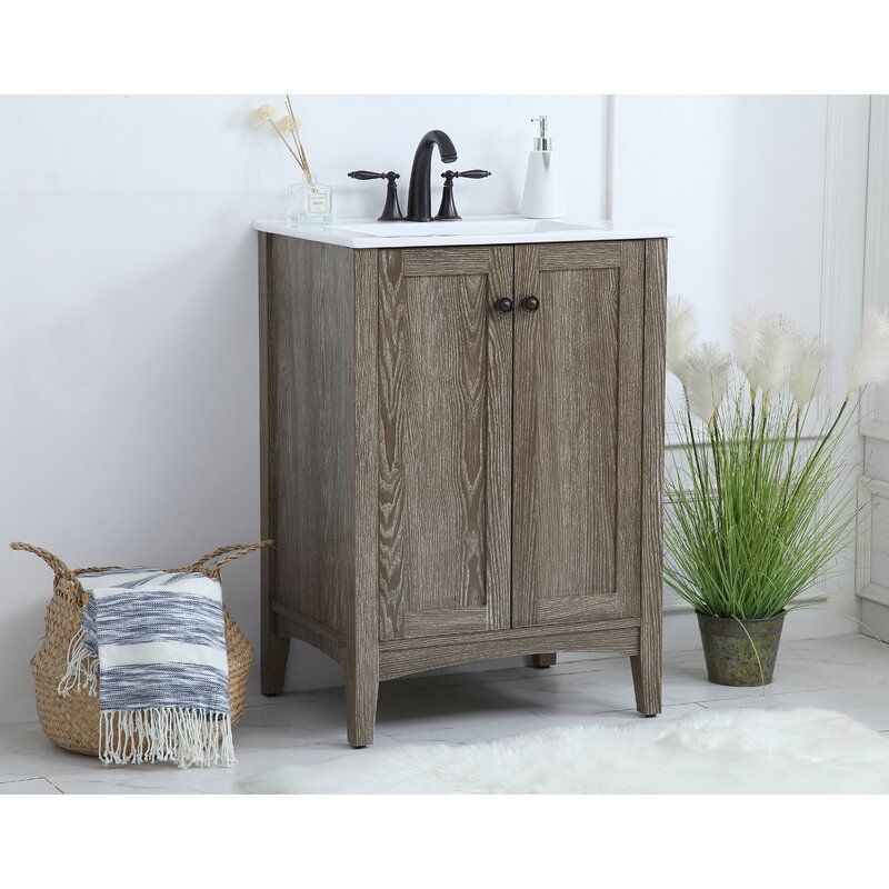 Miltonsburg 24 Single Bathroom Vanity Set In 2020 Bathroom Vanity 24 Inch Vanity Single Bathroom Vanity