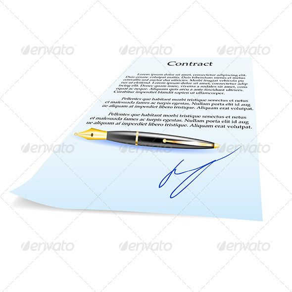 Business Contract and Pen Fonts-logos-icons Pinterest - format for contract