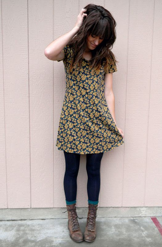The Moptop Leggings Tunic Dress Lace Up Boots Love Her