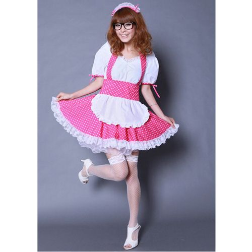 K-ON Pink Maid Cosplay Costume