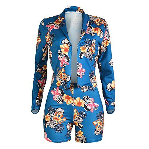 8f6818299033c Women's Suiting - Tracksuit Women Long Sleeve Tropical Floral Blazer ...