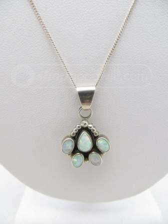 shopgoodwill.com: 925 Silver Opal-Like Stones Necklace PRETTY!