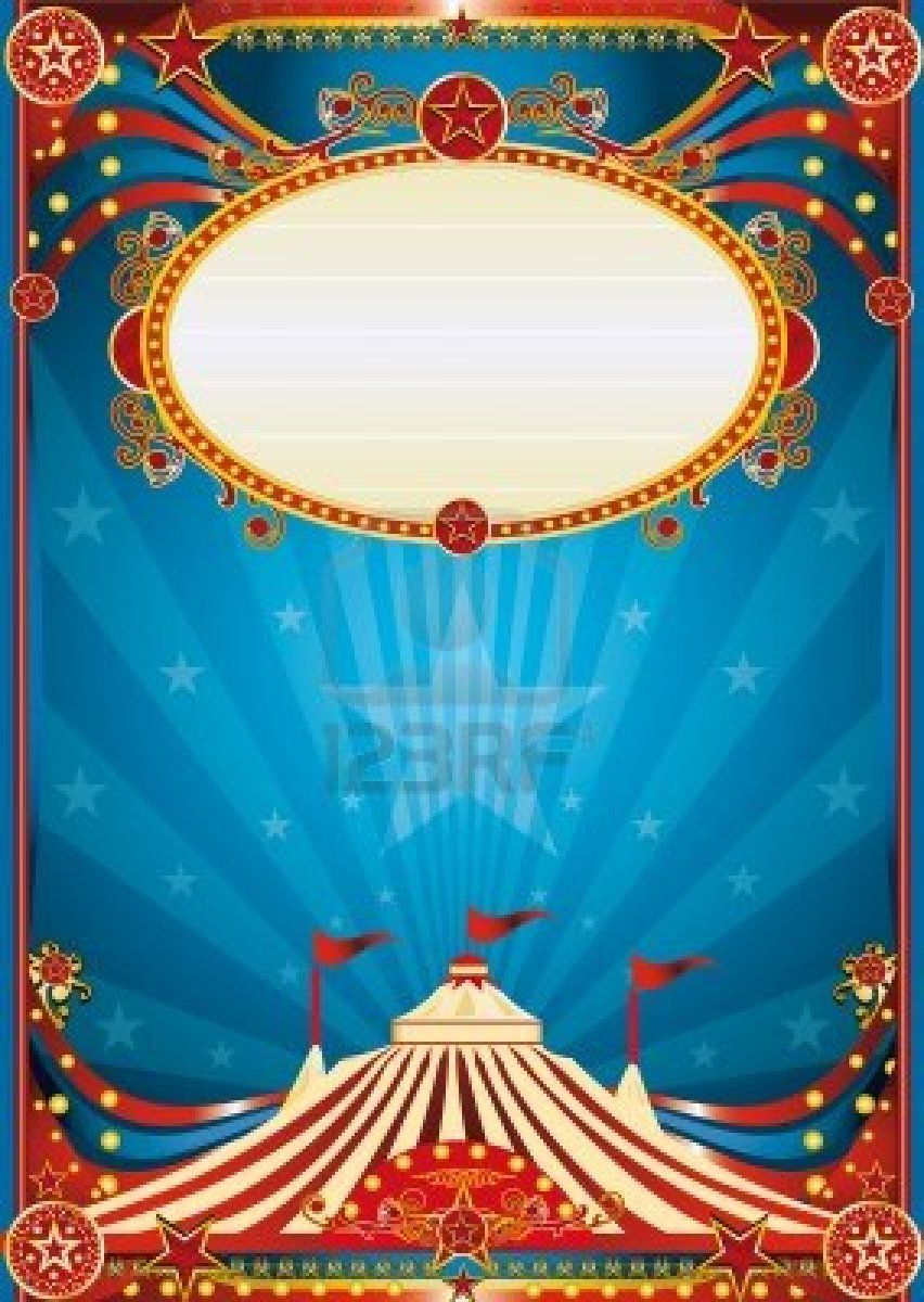 Très A blue circus background for a poster with a spot ligth. Read your  PY88
