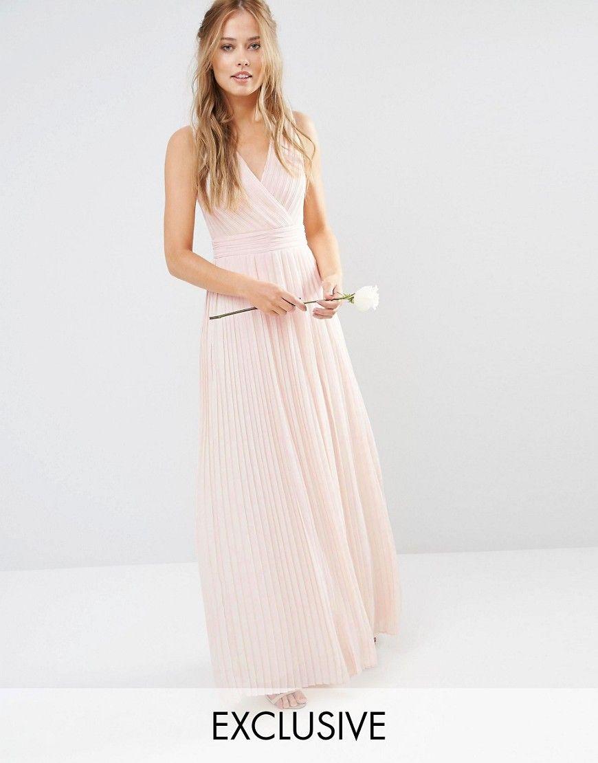 Tfncweddingpleatedwrapmaxidress bridesmaid dresses