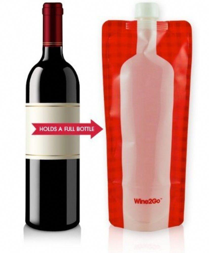 Wine2go The Foldable Wine Bottle Homebrewingforbeginners Wine Bottle Wine Flask Wine2go