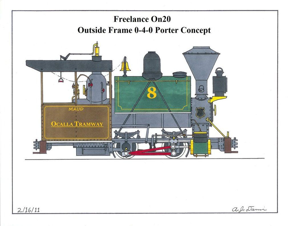 Freelance On20 Porter Porter Steam Locomotives