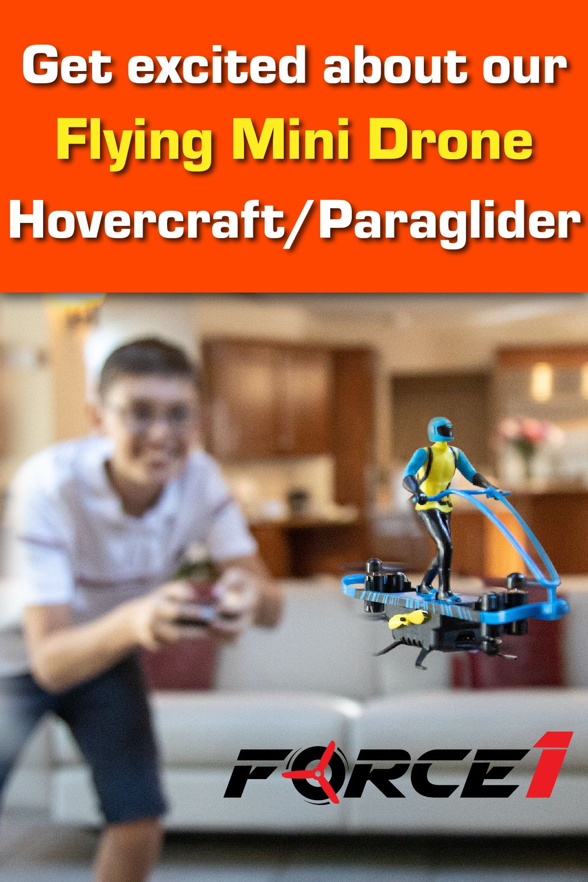 Hovercraft AND paraglider mini drone in one gives you that