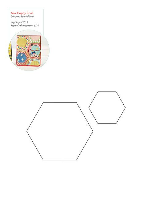 Free Hexagon pattern/template | Hexagons | Pinterest | kostenlose ...