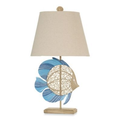 Beach house table lamps architectural designs coastal fish table lamp house pics style and decorating aloadofball Images