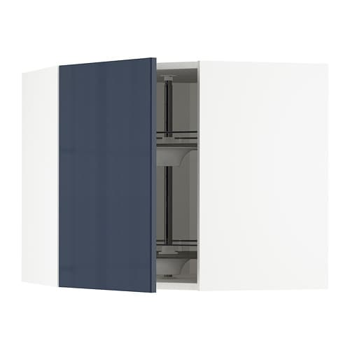 Best Metod Corner Wall Cabinet With Carousel White Järsta Black 400 x 300