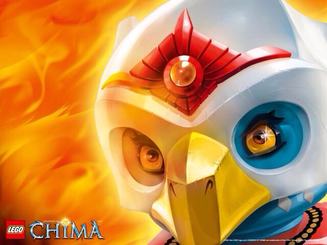 Eris with her fire chi. My favourite chima character.