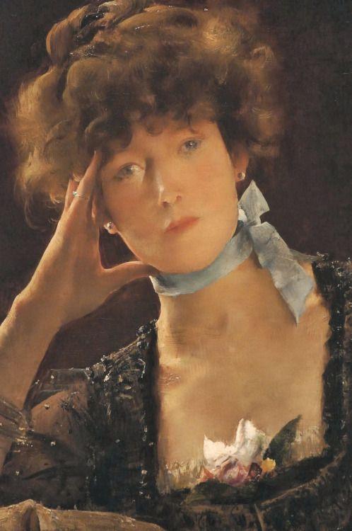 Books0977 Portrait Of Sarah Bernhardt 1885 Alfred Stevens