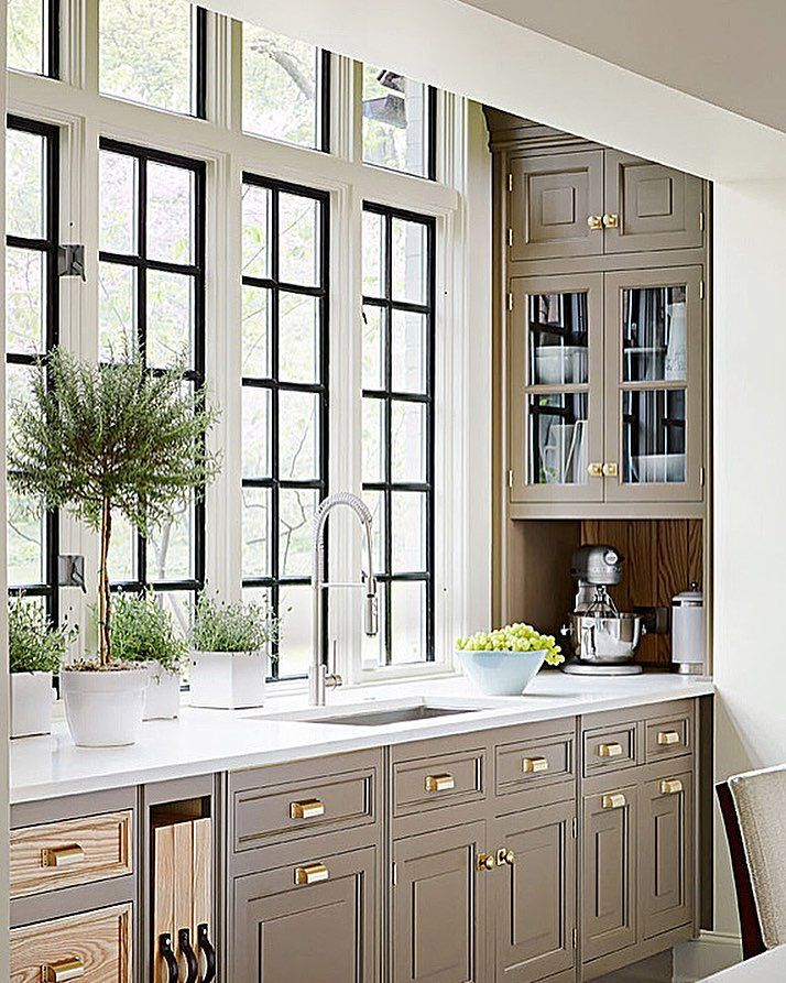 Best Taupe Beige Cabinets In Kitchen With Wood Accents And 640 x 480