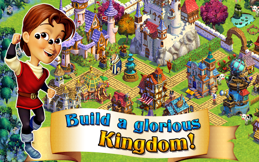 Build a glorious kingdom, filled with breathtaking fantasy buildings, heroes and villains, and adorable animals!  Celebrate the new winter season and grow your kingdom!<p>Explore the mysterious forest, raise animals, and battle monsters in an epic adventure!<p>Seize your destiny! Rule the kingdom you build!<p>-CRAFT Castle Gates, Wizard Towers, magic potions and more inside your crafting workshops!<br>-DECORATE your kingdom with walls, gates, towers, topiaries and more!<br>-EXPLORE the…