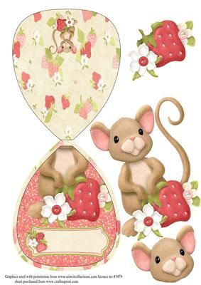 Over the Edge Strawberry Mouse Wobble Card on Craftsuprint - Add To Basket!