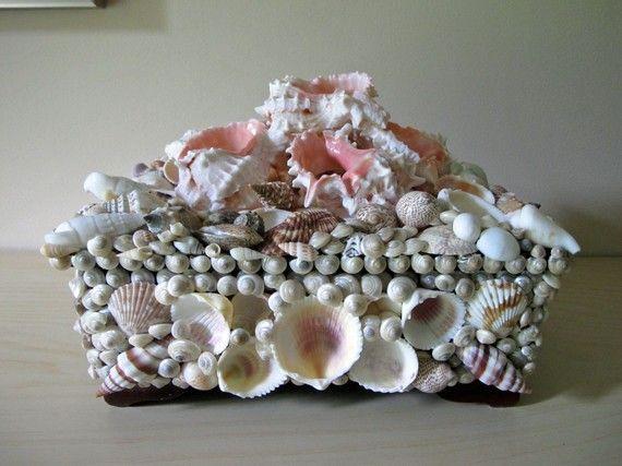 Seashell jewelry box by PleasingThings on Etsy 15900 DIY