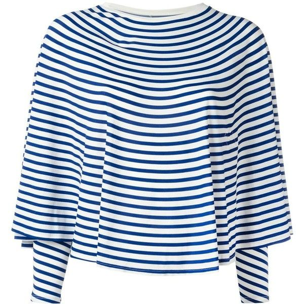 cda02b0d5cc mm6 Maison Margiela Printed Circle Stripe Tee ( 270) ❤ liked on ...