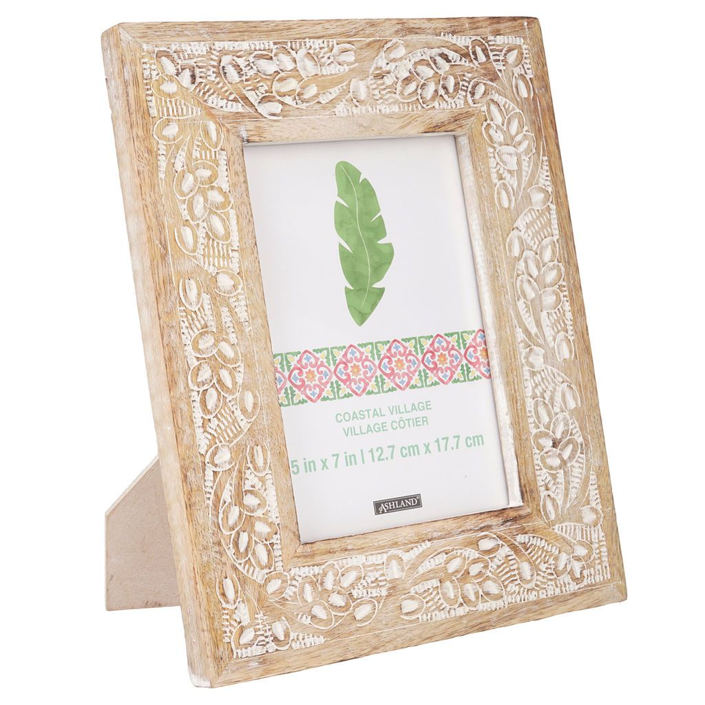 Carved Coastal Village Wooden Frame 5 X 7 By Ashland Frame Wooden Photo Frames Wooden Frames